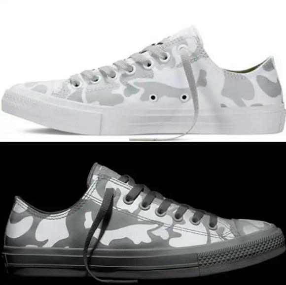 ef23fa47ccf4 NWT Converse Chuck II Reflective White Camo Shoe